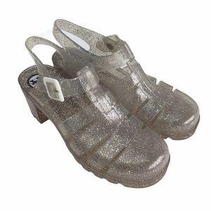Juju Clear Silver Glitter Jellies